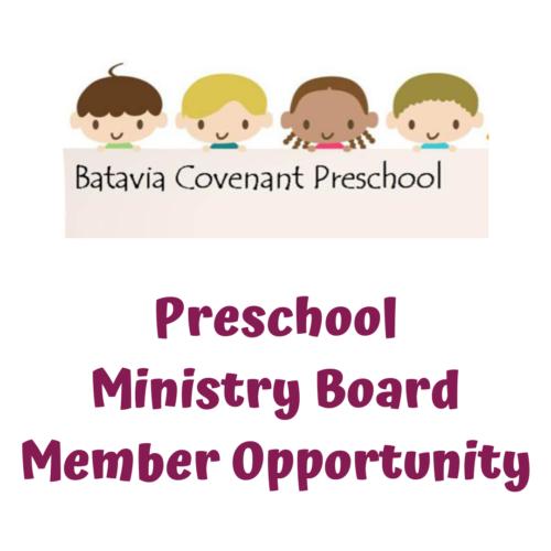Preschool Ministry Board Member Opportunity