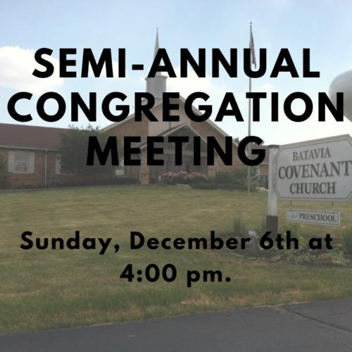 Upcoming Congregational Meeting