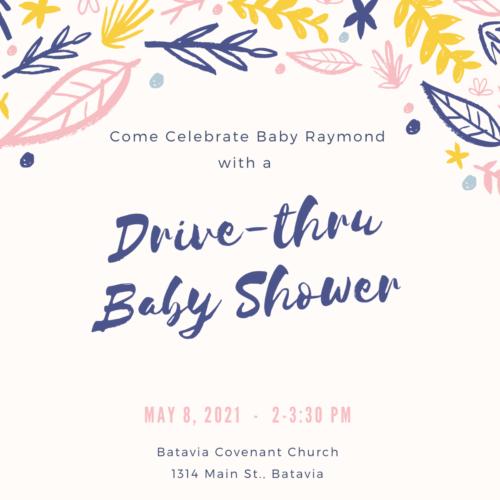 Drive-thru Baby Shower for the Raymonds